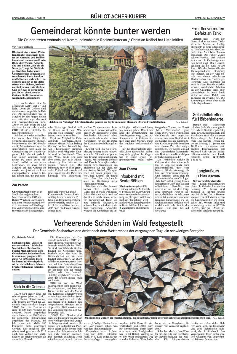 Badisches Tagblatt Facebook